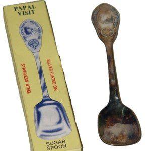 Papal Visit Sugar Spoon Pope John Paul II 16281